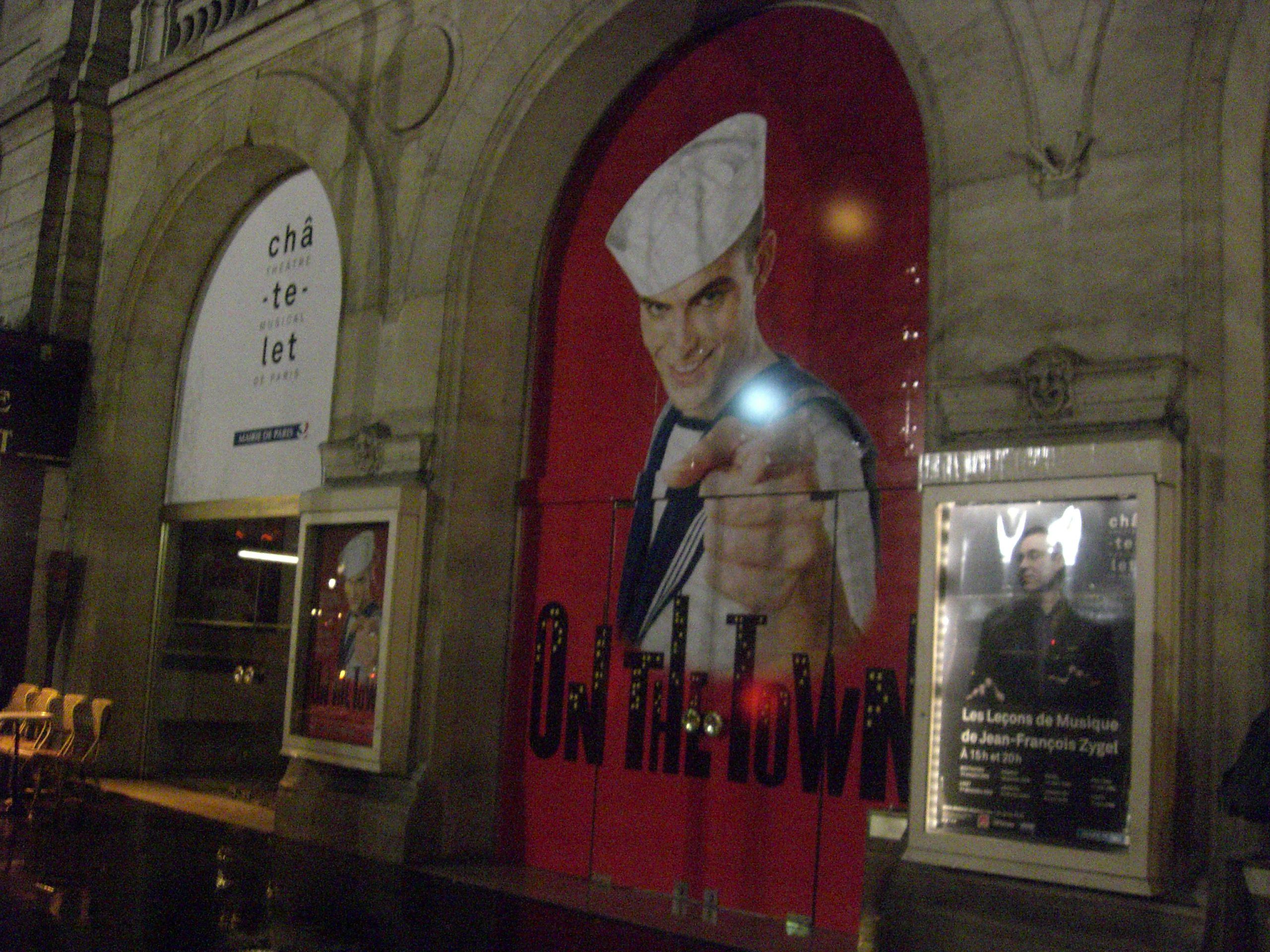 """Cartel de """"On the Town"""" en el Teatro Châtelet"""