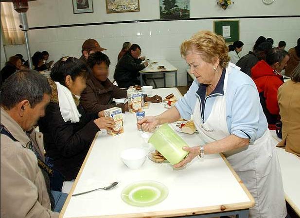 El comedor para desempleados inaugurado en Móstoles