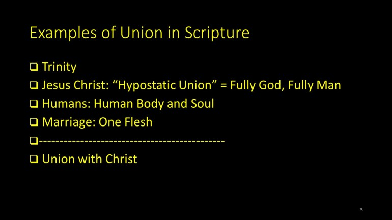 Examples of Union in Scripture
