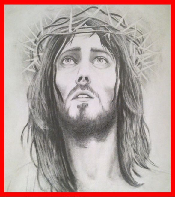 dibujo a lápiz de jesús