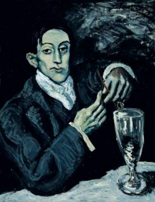 """Retrato azul de Ángel Fernández de Soto"", Pablo Picasso (1903)"