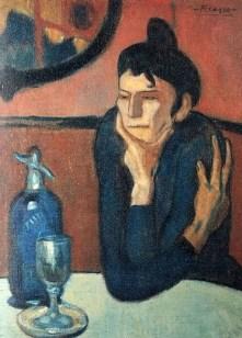 """""""La bebedora de absenta"""", Pablo Picasso (1901)"""