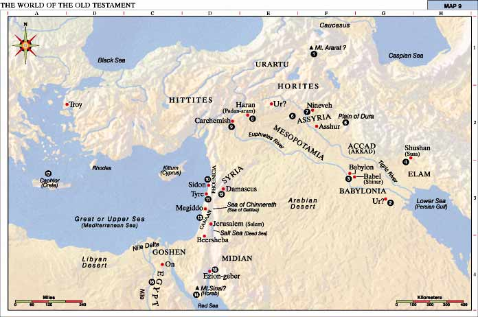The World of the Old Testament - Map