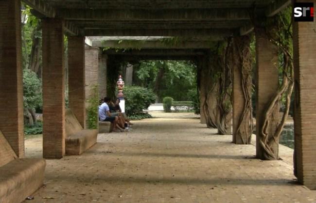 Galería en el Parque de María Luisa de Sevilla