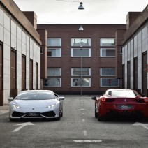 Lamborghini Huracan y Ferrari 458 Italia