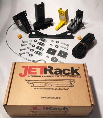 jet rack ladder storage system
