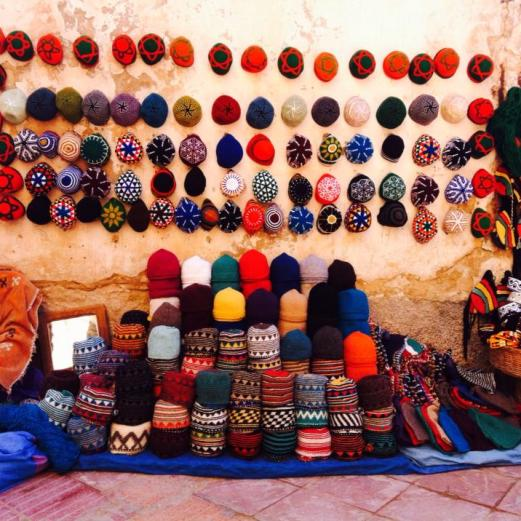hand knitted hats, Essaouira, Morocco