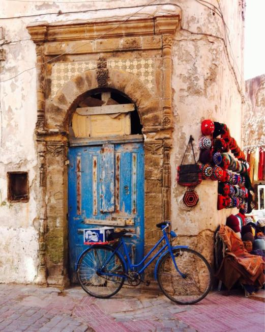 blue door, blue bike, Essaouira, Morocco
