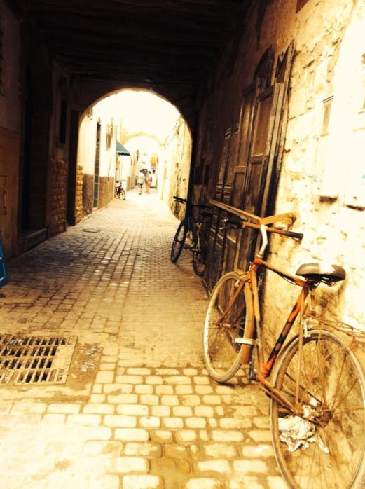 bike and lane, Essaouira, Morocco