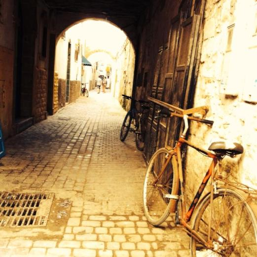 bike and lane, Essaouira, Morocco