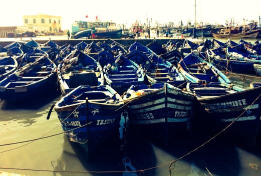 docked boats, Essaouira, Morocco