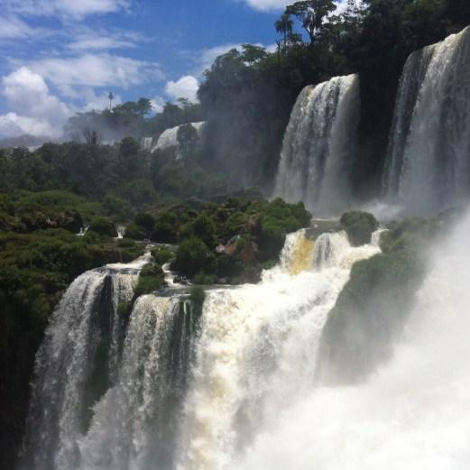 Iguazu close up falls