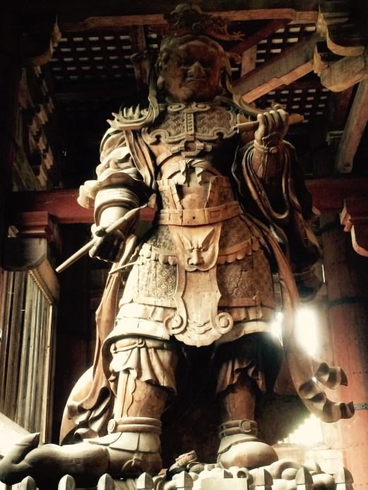 Nara temple statue