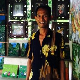 Artist in his studio Ubud Bali