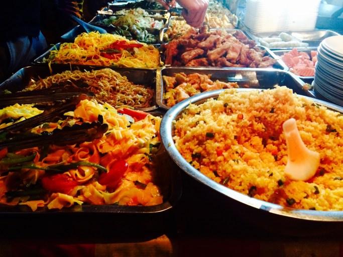 Luang Prabang vegetarian buffet