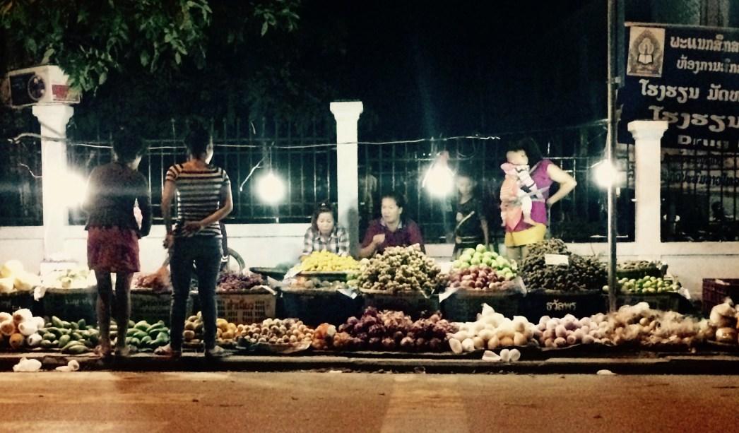 Luang Prabang night food stand
