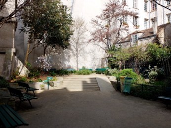 jardin Dominique Mitterrand rue de Bievre Paris