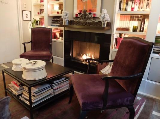 fireplace area Villa Madame hotel