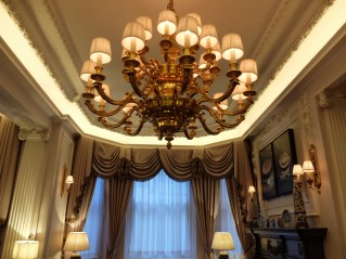 Stafford London Hotel chandelier