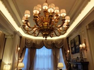 Stafford London Hotel chandelier