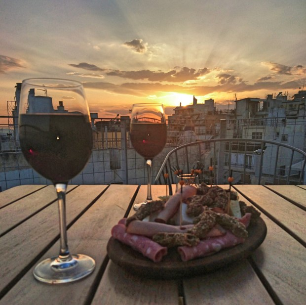 Coco-mat Athens Rooftop terrace apero