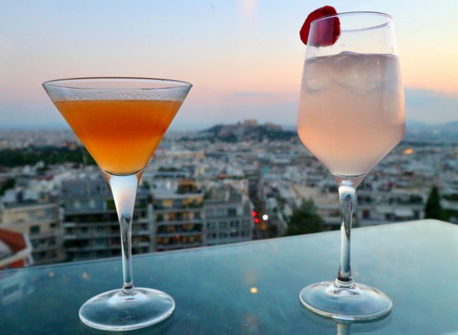 St George Lycabettus Rooftop cocktails