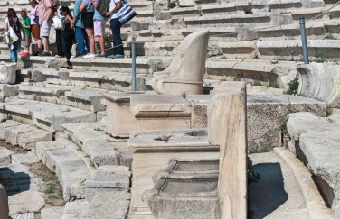 seats in greek theater acroplis