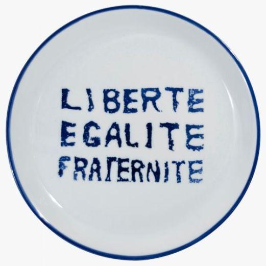 Liberté Egalité Fraternité Porcelain Virebent