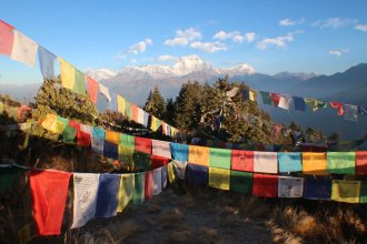 Poon Hill Nepal at sunrise