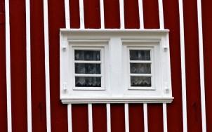 Fenster in gestreift