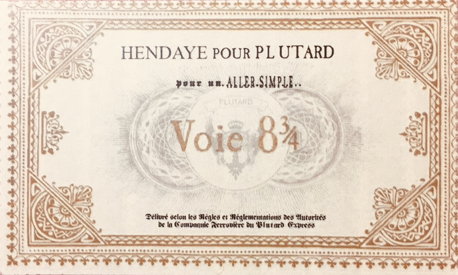 Ticket pour Plutard, via le quai 8 3/4 - Murder Party Harry Potter à la médiathèque de Hendaye