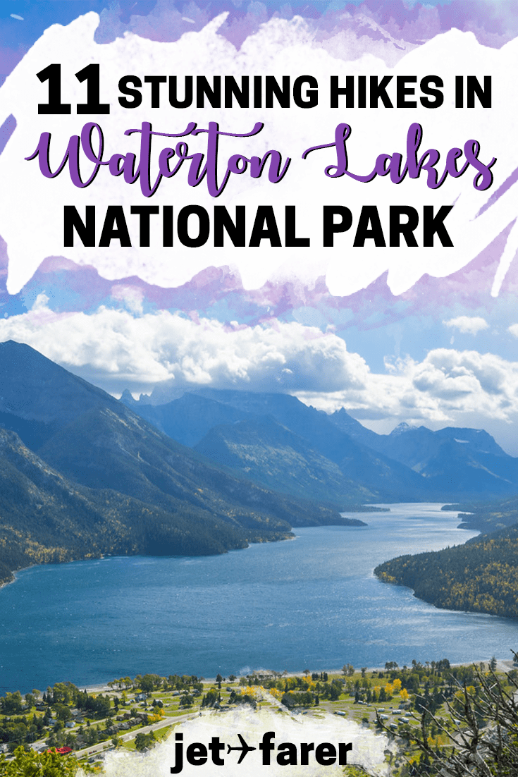 Traveling to Canada? You can't miss these gorgeous hikes in Waterton Lakes National Park! Check out our full list in this post. #Canada | travel in Canada | Alberta Canada | Waterton Lakes National Park hiking | Waterton Lakes travel | weekend trip ideas | Canada weekend getaways | Alberta travel | national parks |