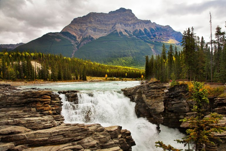Athabasca Falls - hikes in Jasper