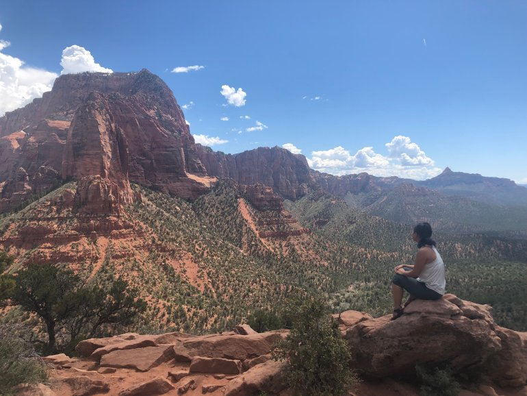 Timber Creek Overlook trail at Zion.