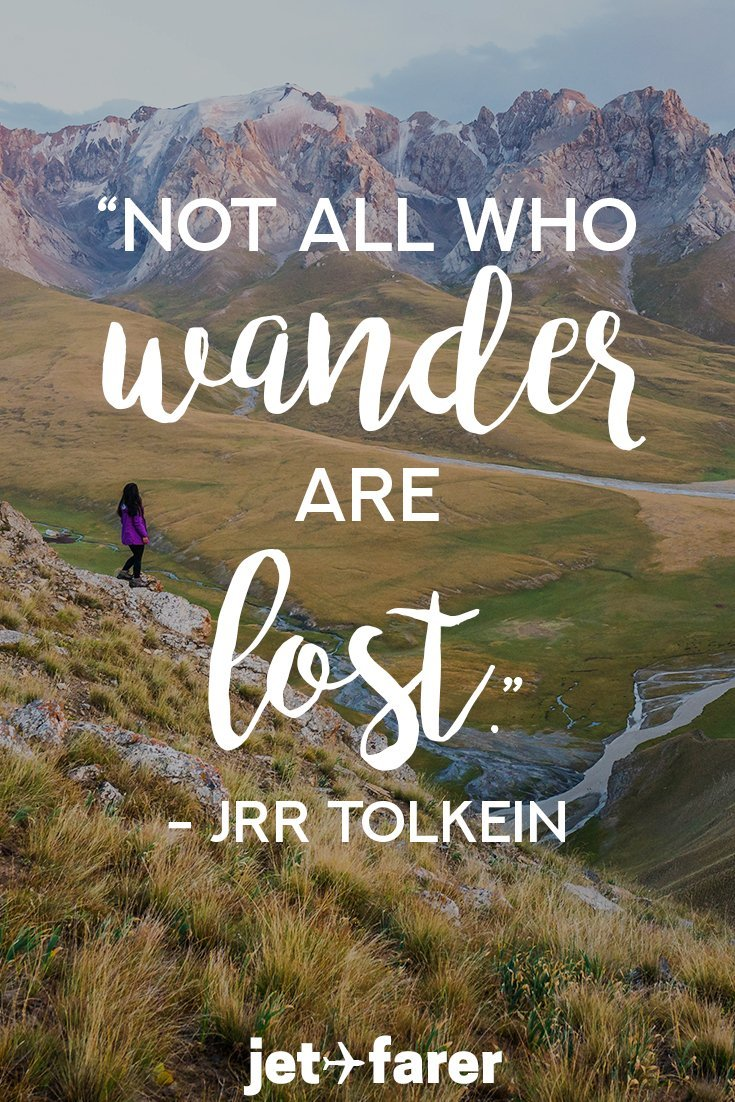 A quote about wandering by JRR Tolkein.