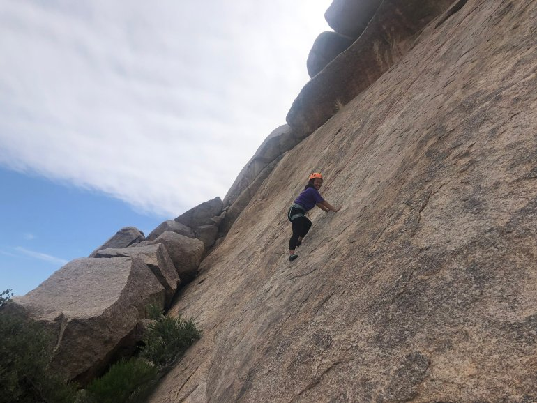 I went rock climbing during my weekend in Scottsdale and LOVED it!
