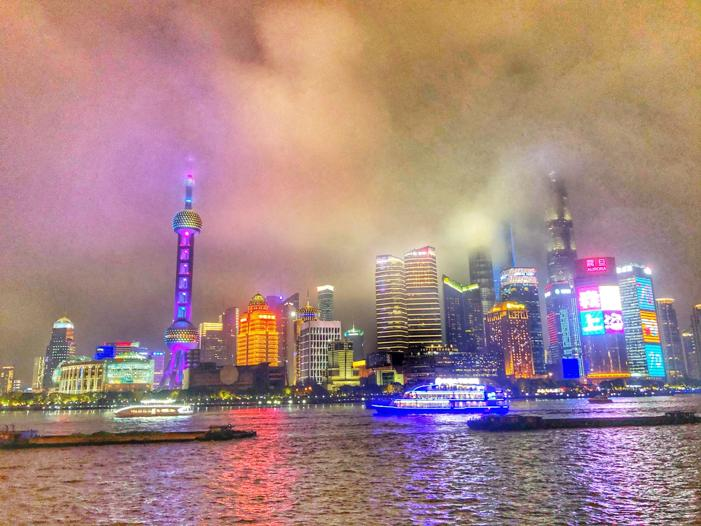 Night sky in Shanghai. Things to do in Shanghai with toddlers