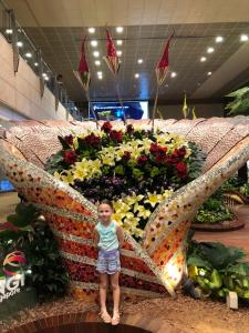 Singapore Airport, Changi is one of the worlds nicest airports with tons of fresh orchids