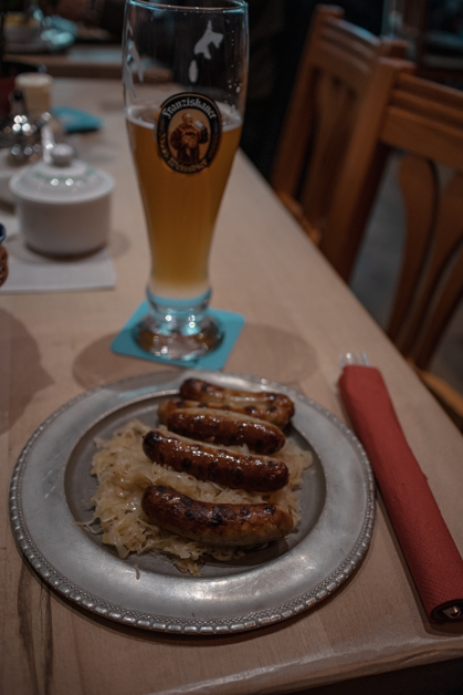 Sauerkraut and sausage from Zum Franziskander