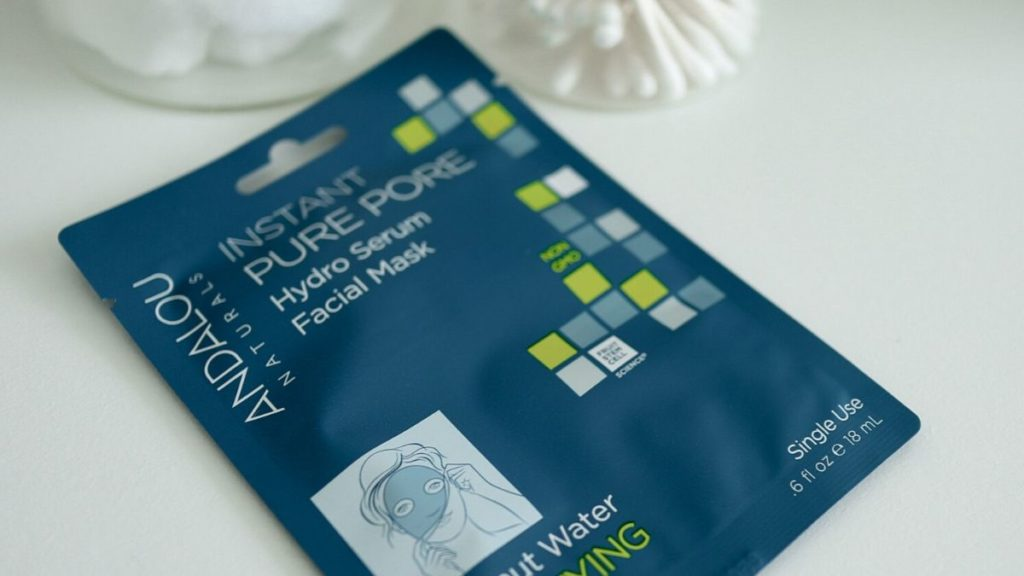 Picture of a sheet mask from Andalou