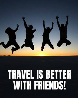 travel is better with friends picture.