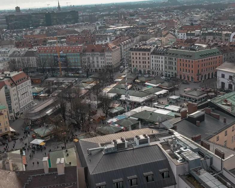 Panoramic view of Munich.