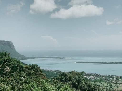 view of Mauritius from the top of a mountain