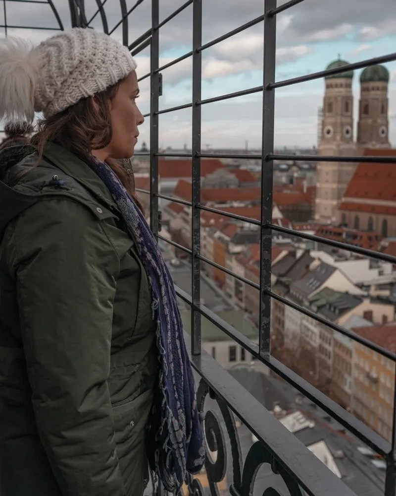 Me staring at Munich the best destination for female solo travel