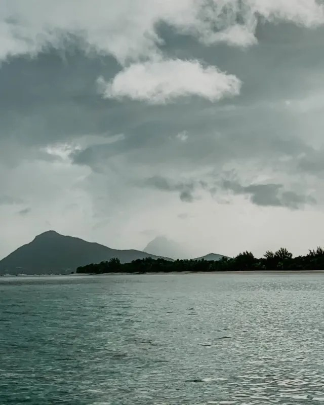 view of Mauritius from the ocean