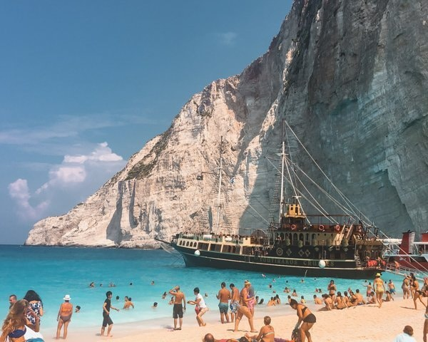 Picture of one of the best things to do in Athens is visiting Shipwreck Beach