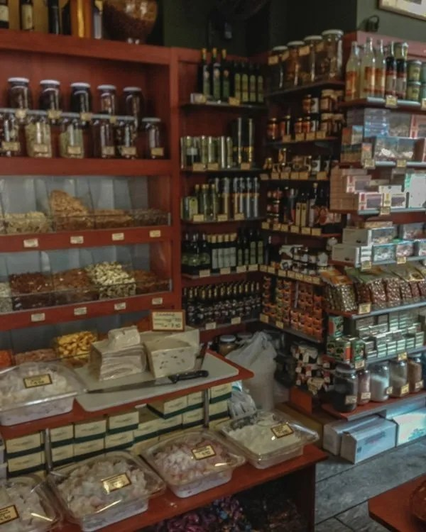 many spices at the farmer's market in Athens