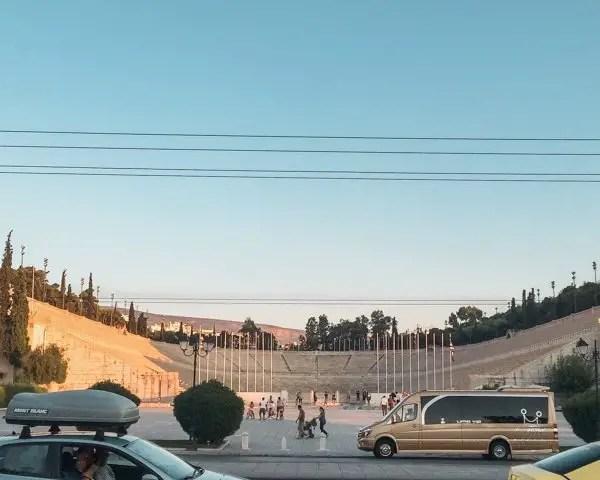 Panathenaic stadium on a sunny day