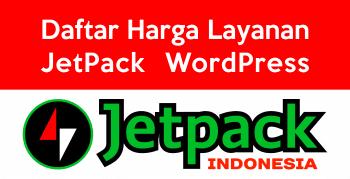 Daftar Harga JetPack WordPress