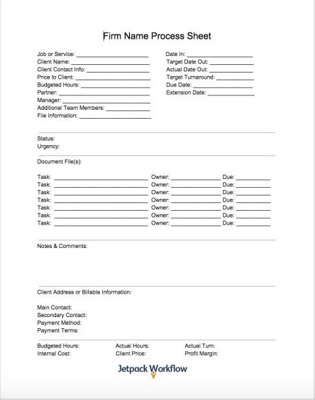 1120 Corp Tax Return Process Sheet